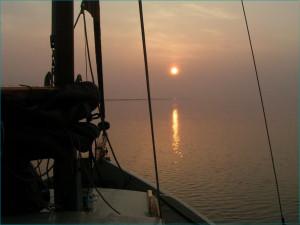 Wad zonsondergang